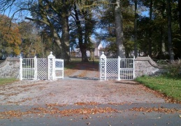 Front entrance gates to Dundrum House